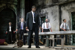 Henry Woronicz, Colm Feore, Denzel Washington, Jack Willis and Patrick Page - photo by Joan Marcus