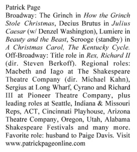 Playbill Bio Long Patrick Page