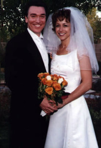 Patrick Page and Paige Davis on thier Wedding Day