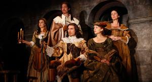 Mikaela Feely-Lehmann, Samuel Roukin, Patrick Page, Clémence Poésy and Geraldine Hughes in Cyrano de Bergerac