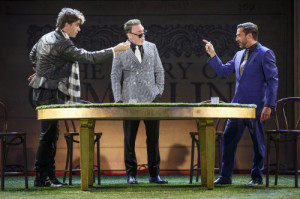 Hamish Linklater, Patrick Page and Raul Esparza in Cymbeline - Shakespeare in the Park
