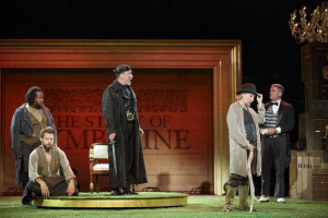 Patrick Page, Hamish Linklater, and Teagle F. Bougere in Cymbeline - Shakespeare in the Park