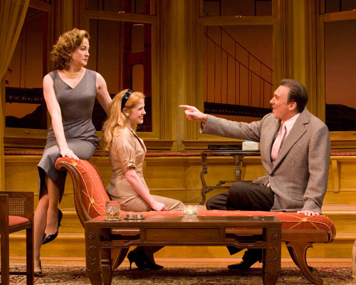 Ellen Karas as Katharine Dougherty, Erin Chambers as Jessica Poole and Patrick Page as Biddeford Poole