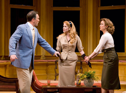 Patrick Page as Biddeford Poole, Erin Chambers as Jessica Poole and Ellen Karas as Katharine Dougherty