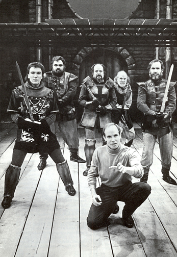 Patrick Page, Frank Gerrish, K. Lype O'Dell, Ricahrd Mathews, Curt Karibalis & Craig Wroe in rehearsal for HENRY V