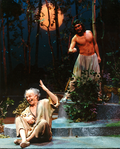 Ricahrd Mathews and Patrick Page in A MIDSUMMER NIGHT'S DREAM