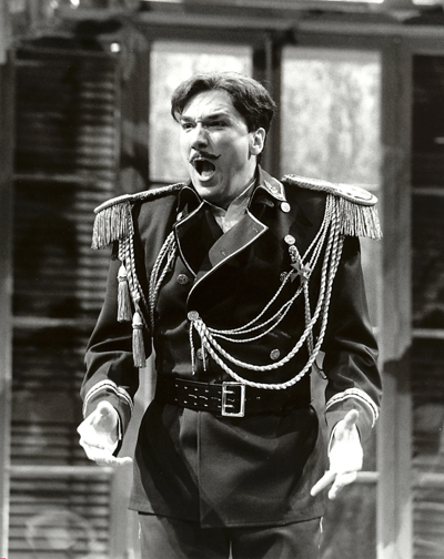 Patrick Page as Sergius in ARMS AND THE MAN at the Long Wharf Theatre