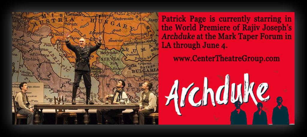 Patrick Page stars in Archduke at the Mark Taper Forum in LA