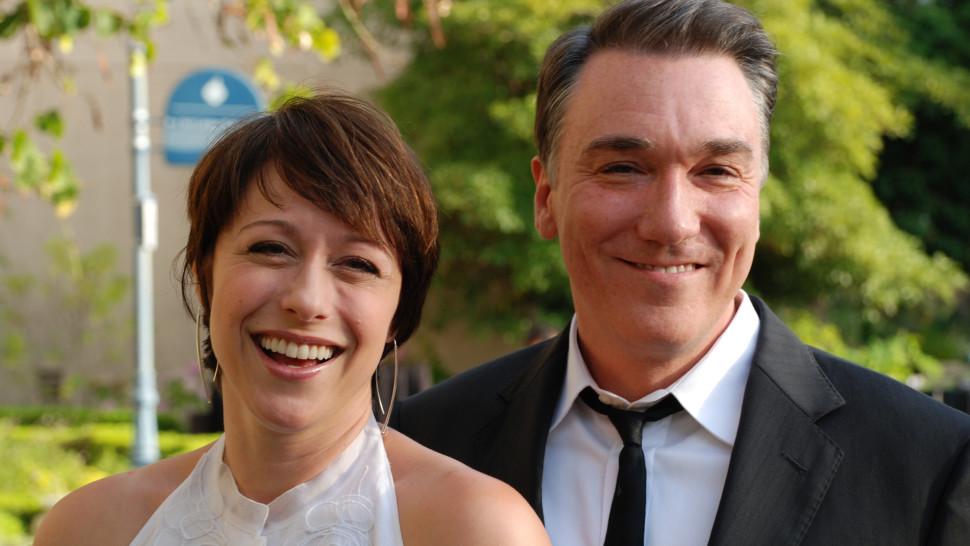 Patrick Page and Paige Davis