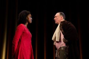 Condola Rashad and Patrick Page in Saint Joan