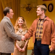 Patrick Page as Biddeford Poole, Erin Chambers as Jessica Poole and Matt Biedel as Roger Henderson