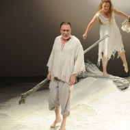 Patrick Page and Rachel Mewbron in The Tempest