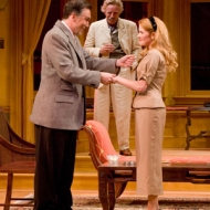 Patrick Page as Biddeford Poole, Ned Schmidtke as Mackenzie Savage and Erin Chambers as Jessica Poole